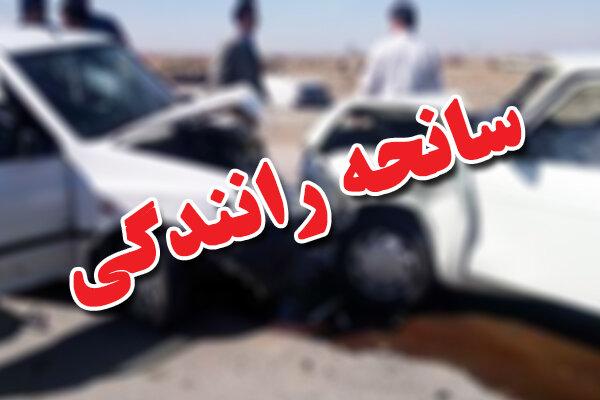 يك كشته و 3 مصدوم در برخورد 2 دستگاه ال 90 در زنجان