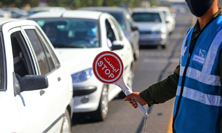 پابرجایی محدودیتهای کرونایی تردد شبانه خودروها