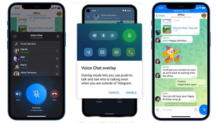 نسخه جدید تلگرام با امکان زمانبندی چتهای صوتی از راه رسید