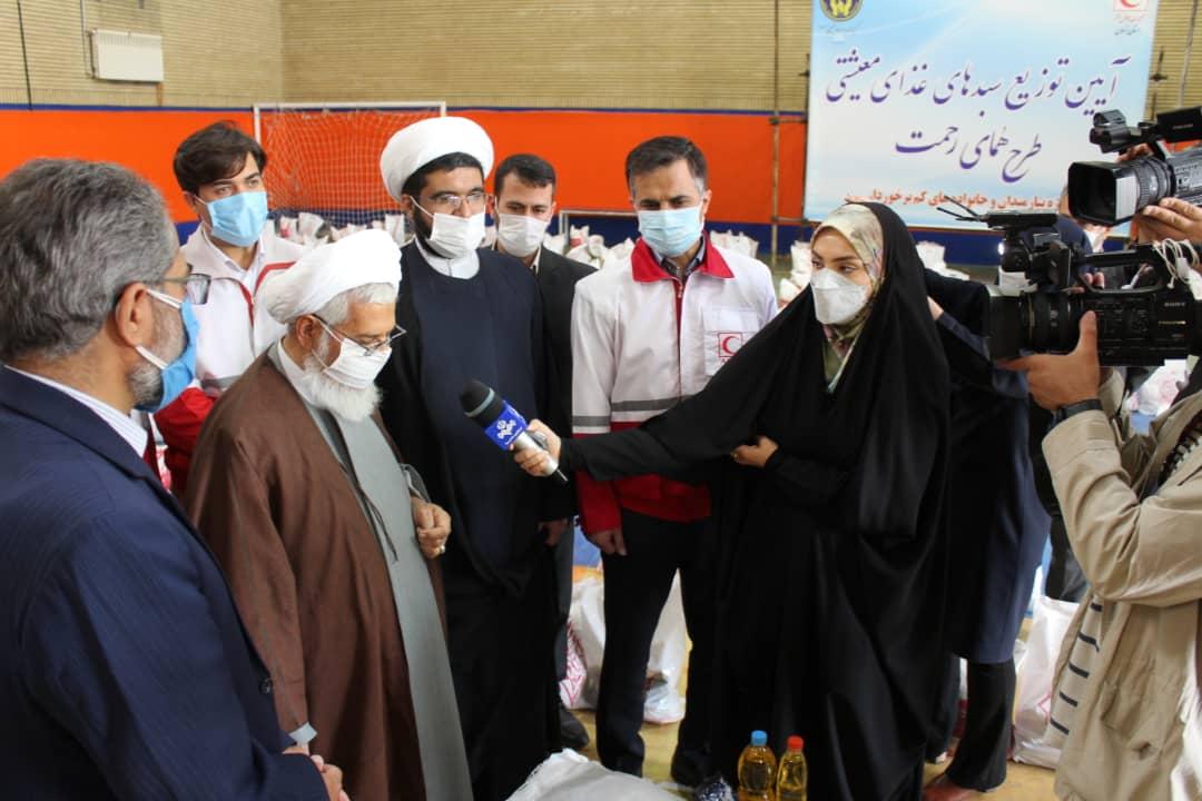 قدر دانی نماینده ولی فقیه در استان زنجان از داوطلبان خیر هلال احمر