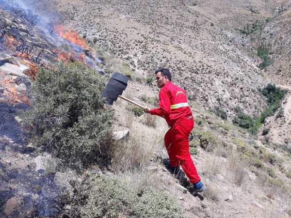 بیش از 7 هکتار از اراضی ملی روستای چمرود شهرستان سلطانیه در آتش سوخت