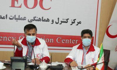برگزاری مانور ساعت صفر زلزله در هلال احمر استان زنجان