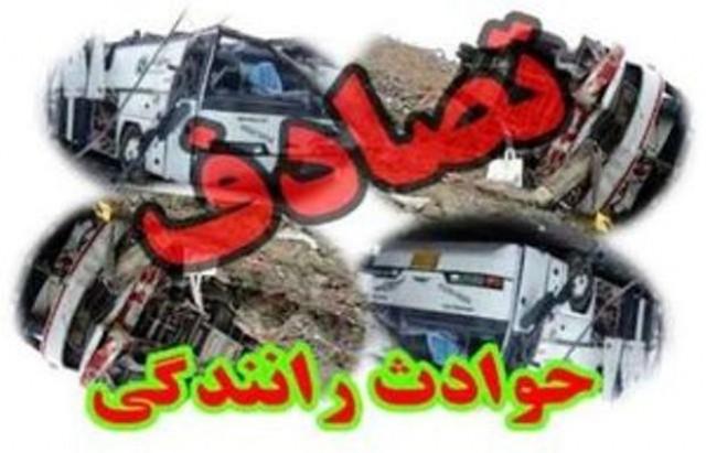 برخورد مرگبار سواری دنا با وانت مزدا با 2 کشته در زنجان