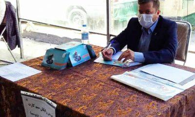 ارائه خدمات مخابرات منطقه زنجان در محل پیاده راه سبزه میدان