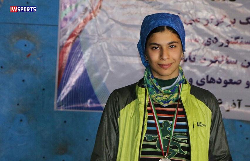 رتبه چهارم محیا دارابیان در رقابتهای سنگنوردی جهان