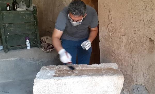 کتیبه 400 ساله روستای گلابر زنجان مرمت شد