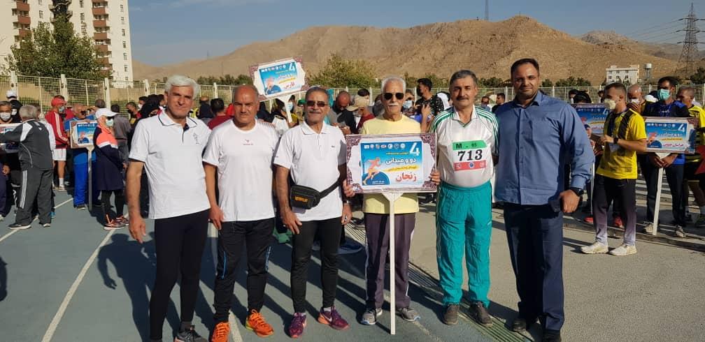 درخشش ورزشکاران زنجانی در مسابقات دو و میدانی پیشکسوتان کشور
