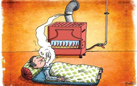 لزوم بررسی صحت کارکرد وسایل گرمایشی گازسوز